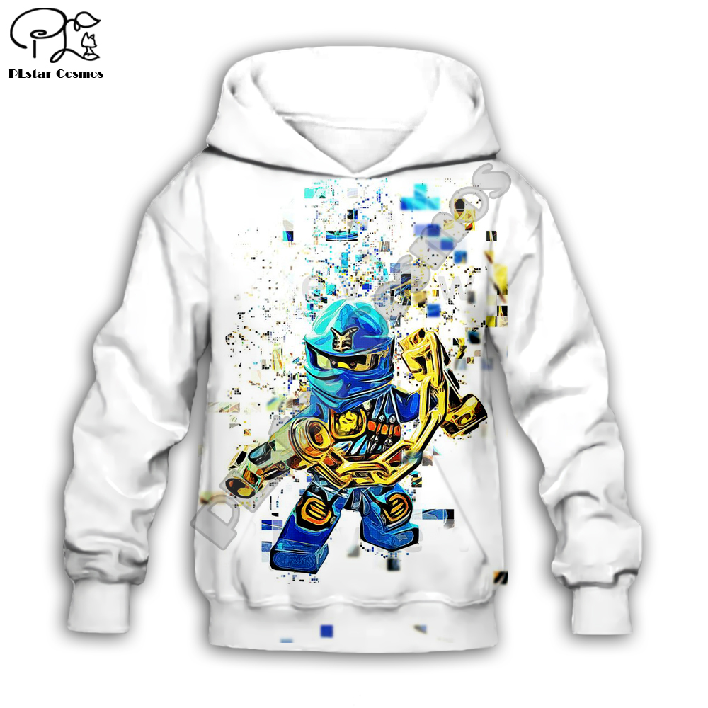 Boys Sweatshirts Legoes Long Sleeved T-Shirts Baby Ninjago Girls Hoodies/boy Girl Sweatshirt Cartoon  Pant Style-3