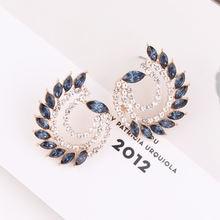Lubov оптовая продажа павлина красочные кристаллы висячие серьги
