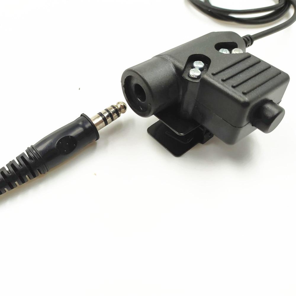 Telescopic Heavy Duty Tactical Throat Vibration Mic headset forCOMTAC MSA EARMOR TCA TRI PTT for Walkie-talkie prc-152 BAOFENG