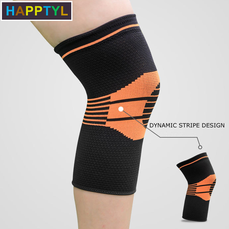 HAPPTYL 1Pcs Compression Knee Sleeve, Best Knee Brace Support For Sports, Running, Jogging, Basketball, Joint Pain Relief