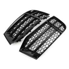 Pair Glossy Black Honeycombs Mesh Fog Light Grilles Grills Cover Fit for Audi RS5 B8.5 2013 2014 2015 2016 Car accessories