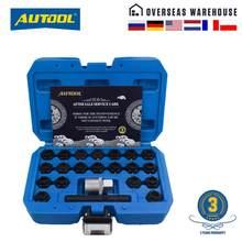 AUTOOL – Kit de clé de déverrouillage de roue pour BMW, 22 pièces, antivol, écrous de roue, jeu d'outils de démontage de vis