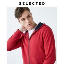選択された男性の綿100% 赤フード付きシースルーのスウェットシャツは私