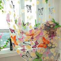 Cortinas en forma De mariposas coloridas Para la Sala De Estar