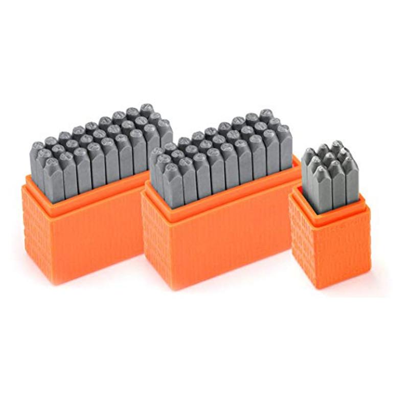 Basic Bridgette Letter & Number Metal Stamp Kit - (63 Piece Punch Set) Complete Set Of 3 - Uppercase/Lowercase/Number - 3MM