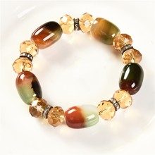 mix color 2019 New Women Jewelry Fashion Candy Color Bracelet Sweet Love Crystal Beads Bracelets & Bangles
