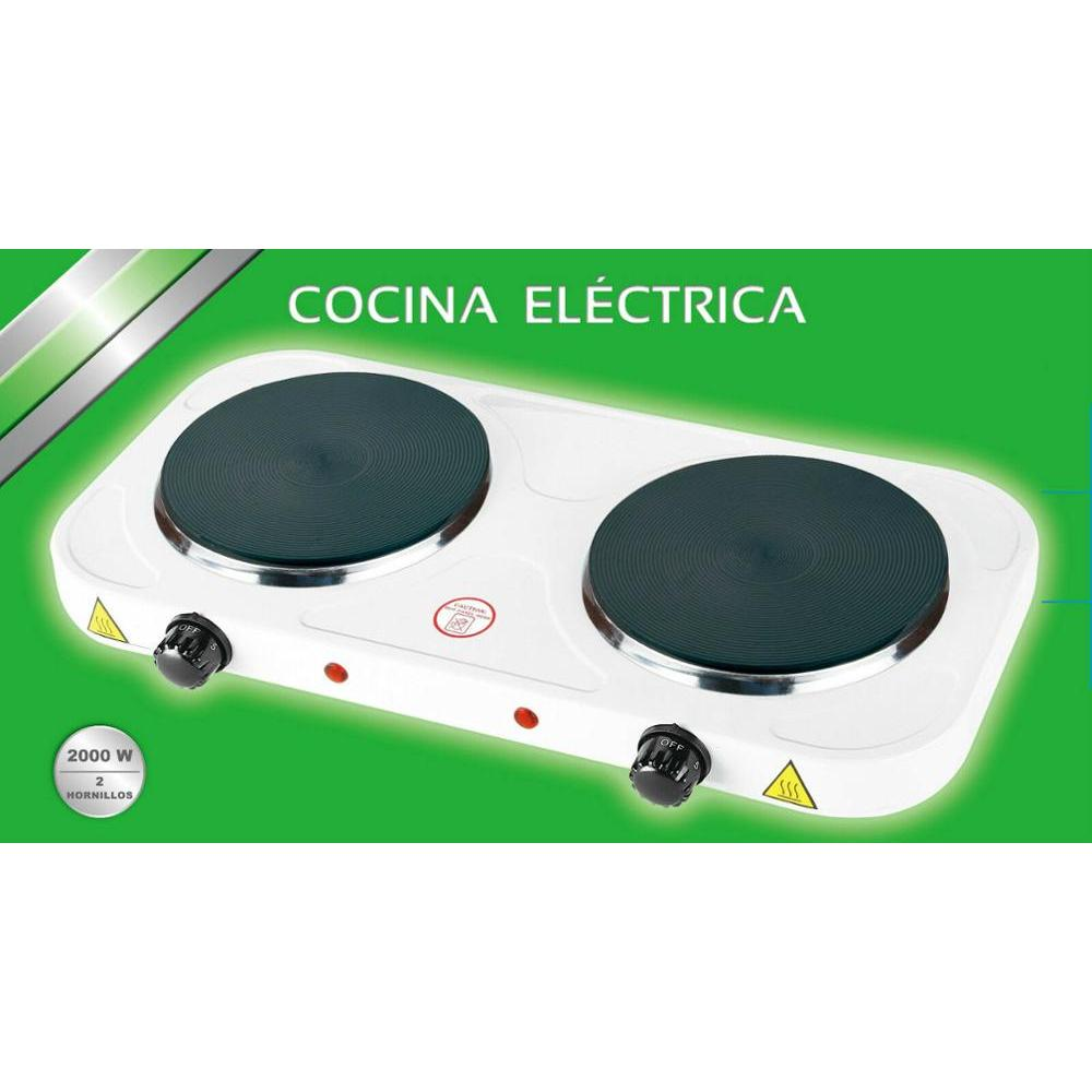 ELECTRIC STOVE DOUBLE STOVE 2000W 2 FIRES PLATE ELECTRIC CAMPING WARANTY MP-CE2000