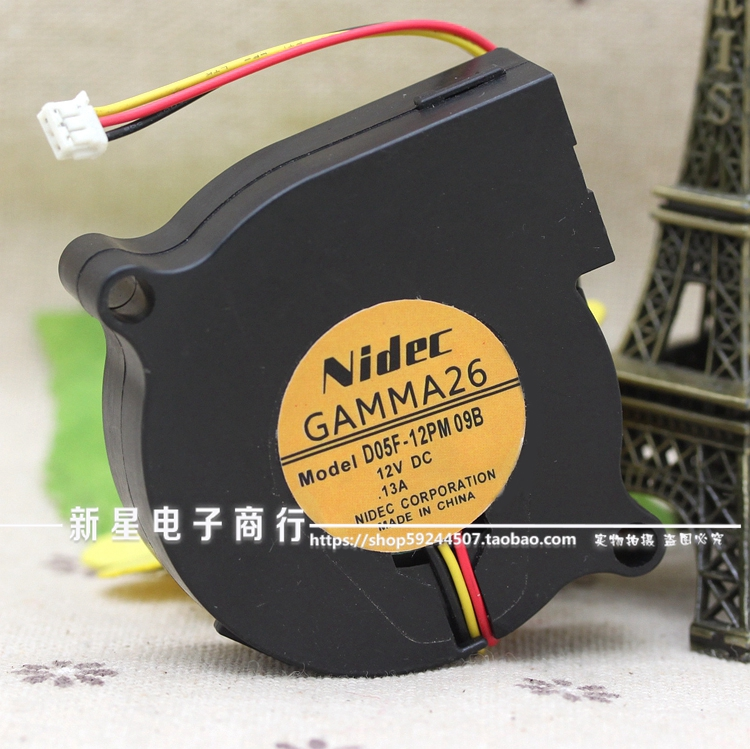 For Nidec D05F 12PM DC 12V 0.13A Cooling Server Blower Fan 5CM 50MM 50*50MM 5015 cooler blower Fans & Cooling    - title=