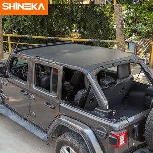 Image 5 - SHINEKA غطاء سيارة 4 باب جلد لينة سقف علوي كامل طول غطاء ظلة اكسسوارات ل جيب رانجلر JL 2018 2019 2020