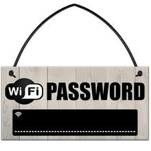 Wooden WiFi Password Hanging Board Chalkboard Internet Signal Plate Decor