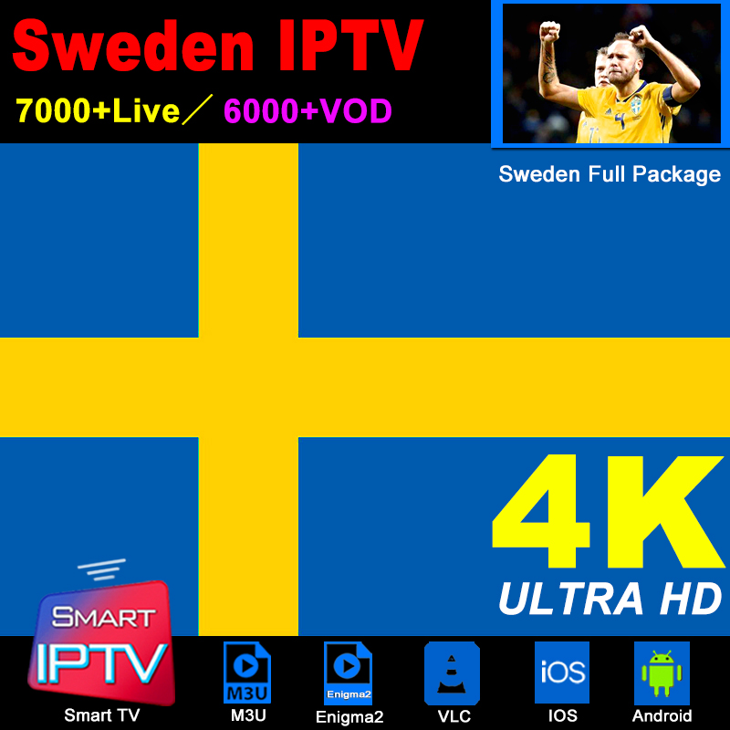 Sweden IPTV Subscription M3U Abonnement IPTV Spain France Italy Portugal Germany Android LG Smart Tv Samsung MAG Box Enigma2 PC