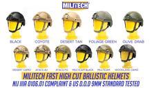 Ballistic Helmet NIJ Level IIIA 3A 2019 New Fast High XP Cut ISO Certified Bulletproof Helmet With 5 Years Warranty  Militech