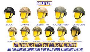 Image 1 - Ballistic Helmet NIJ Level IIIA 3A 2019 New Fast High XP Cut ISO Certified Bulletproof Helmet With 5 Years Warranty  Militech