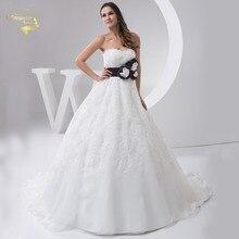2016 Белый Louisvuigon vestido де noiva халат Mariage свадебные свадебный цветок линии аппликация кружева свадебные платья милая 9510 уя