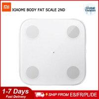 Xiaomi Mijia grasa corporal composición escala 2 electrónica Digital de pantalla LED Mi báscula Balanza De Peso APP de análisis de datos