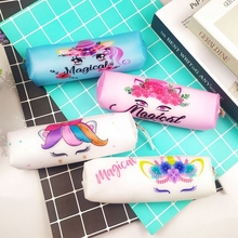 Silicone Pencil Case for Boys Girls Kawaii Stationery School Cute Unicorn Mermaid Pencilcase Bag Box Student Supplies