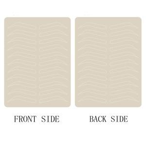 Image 1 - Микроблейдинг бровей тренировочная кожа для бровей Перманентный макияж товары для бровей тренировочная кожа без чернил белая линия двусторонняя