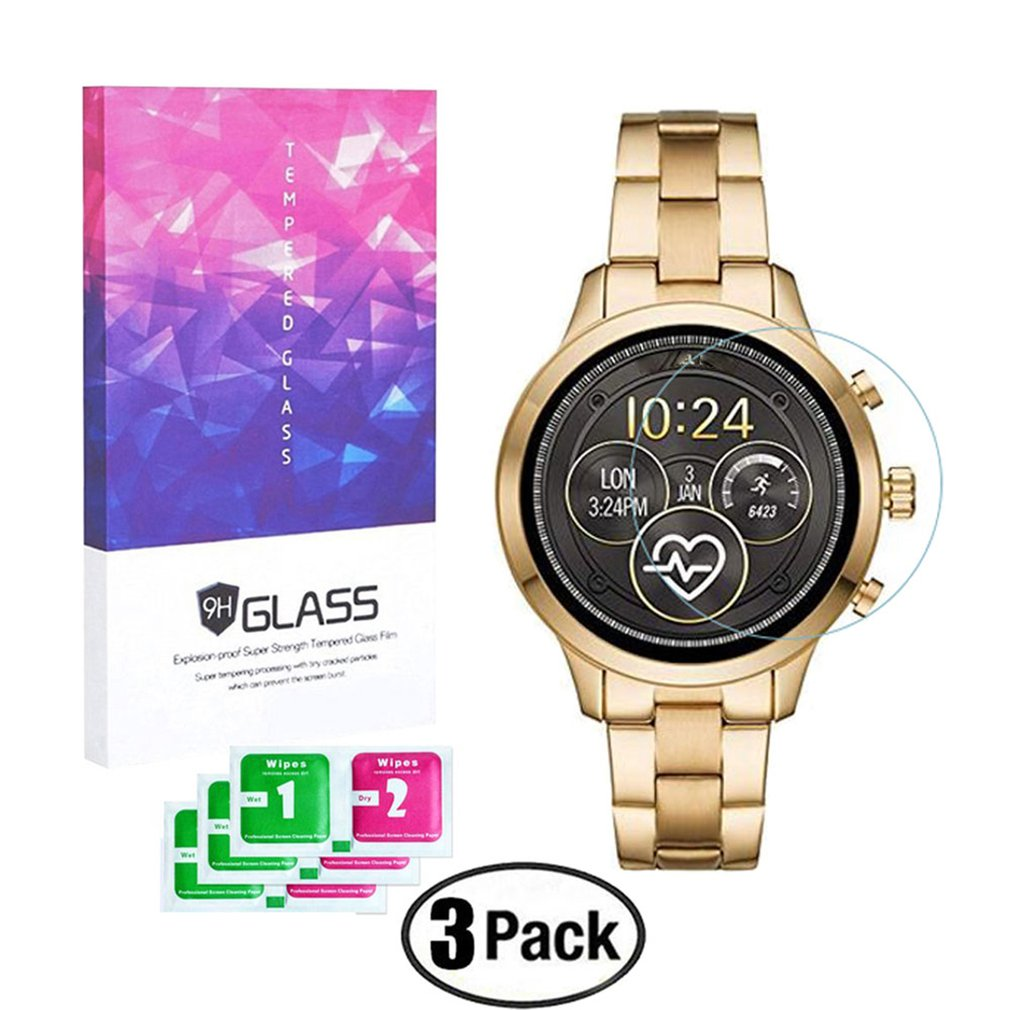 3Pcs Screen Protector For Michael Kors Access Runway MKT5045 Watch 9H Tempered Glass Explosion-Proof Protective Film