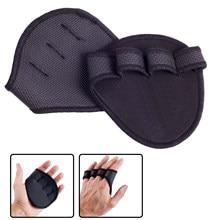 Levantamento de palma haltere apertos almofadas unisex anti skid peso cruz luvas treinamento ginásio treino fitness esportes para protetor mão