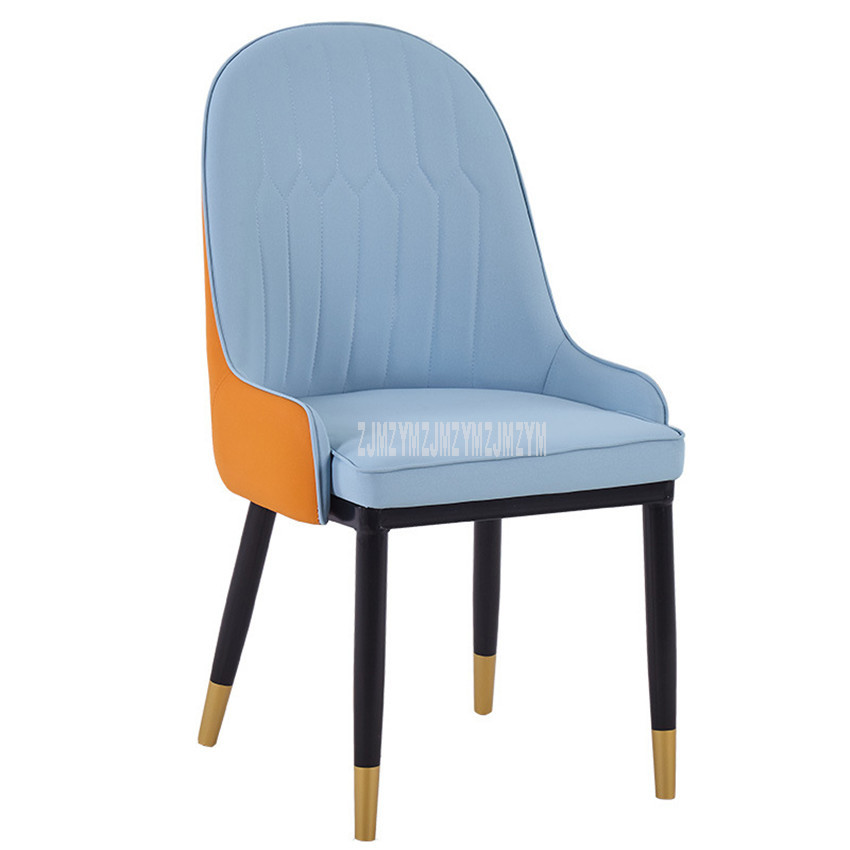 Modern Design Dining Chair Leisure Chair High Backrest PU Leather Sofe Sponge Seat Cushion Living Room Home Popular Furniture