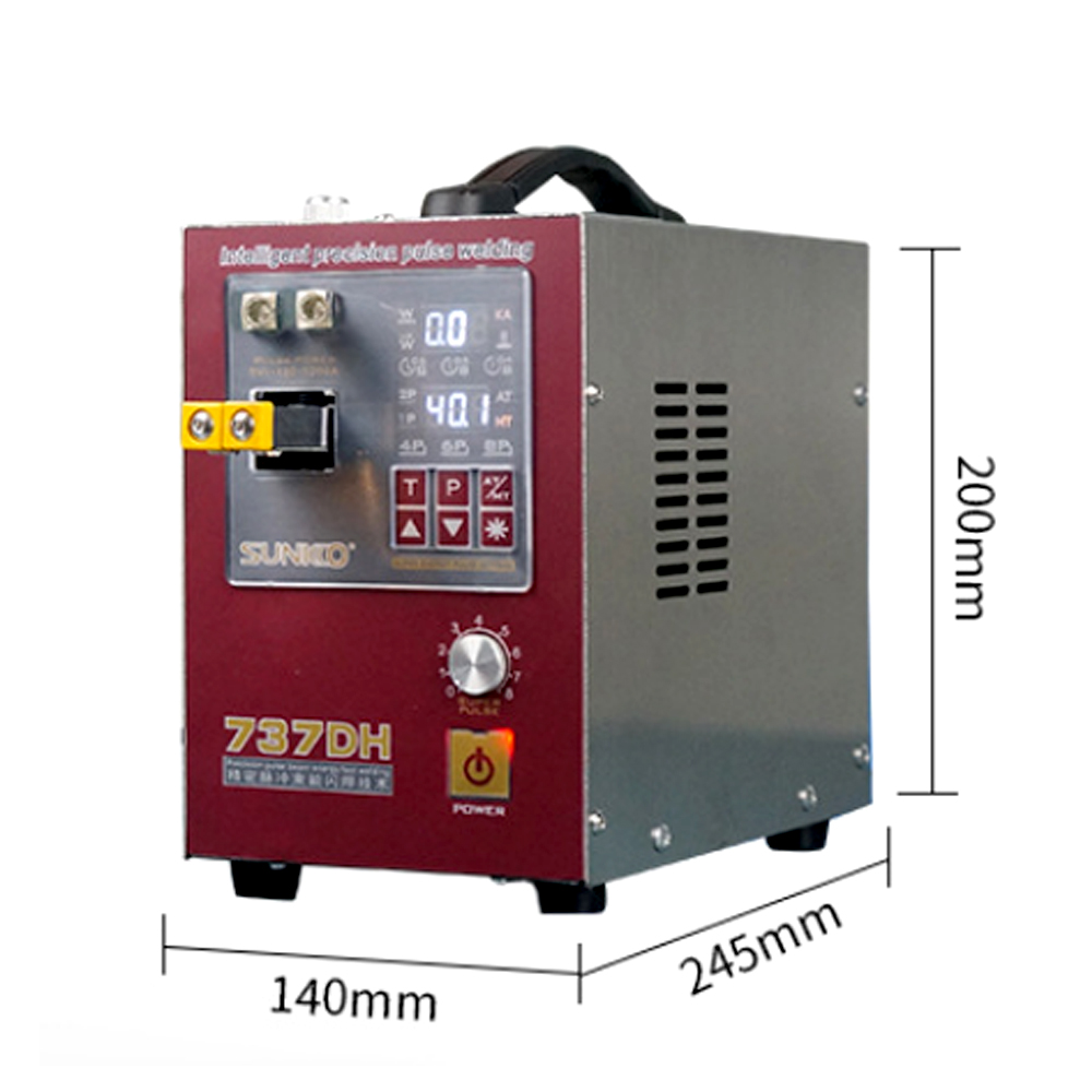 Tools : SUNKK 737DH spot welder 4 3KW induction delay touch welding machine small 18650 lithium battery spot welding machine nickel Stri