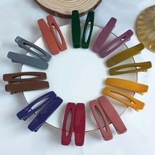 2PC Korea Hair Clip Fashion Duck Mouth Barrettes Bang Color Womens Accessorie Geometric Women Girl Hairpins