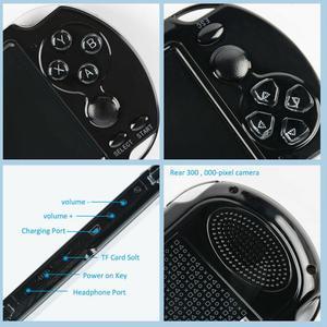 "Image 5 - כף יד קונסולת משחקי 4.2 ""5"" LCD X6 X9 בתוספת נדנדה כפולה 8G רטרו וידאו MP5 TF כרטיס עבור GBA/ 1000 משחקים"