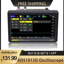 ADS1013D 2 ערוצים 100MHz להקת רוחב 1GSa/s קצב דגימה אוסצילוסקופ עם 7 אינץ צבע TFT LCD נגיעה מסך