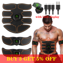 EMS Wireless Muscle Stimulator Trainer  Abdominal Training Electric Weight Loss Stickers Body Slimming Belt Unisex gel for ems muscle stimulator trainer smart fitness abdominal training electric weight loss stickers body slimming belt