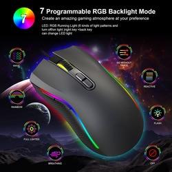 Świecące myszy do gier mysz przewodowy USB optyczne myszy komputerowe 7 programowalnych klawiszy VDX99