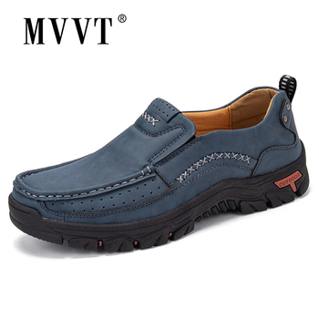 Handmade Leather Men Shoes Casual Outdoor Breathable Men Loafers Quality Split Leather Shoes Men Flats Hot Sale Moccasins Shoe 2020 super comfortable casual leather shoes men soft leather loafers men shoes breathable flats shoe hot sale moccasins shoes