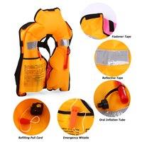 2pcs / 1pcs Inflatable Life Jacket Professional Adult Swiming Fishing Life Vest Swimwear Water Sport Swimming Survival Jacket