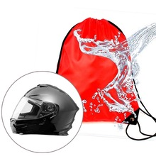 Rainproof Draw pocket For Motorcycle Scooter Moped Helmet Lid Protect Bag Basketball Bag 47x45cm cheap ZHUANGQIAO 40cminchinchinch Universal Helmet bag 38cminchinchinch 30gkgkgkg Helmet Bags Oxford cloth Used as Helmet Basketball bag