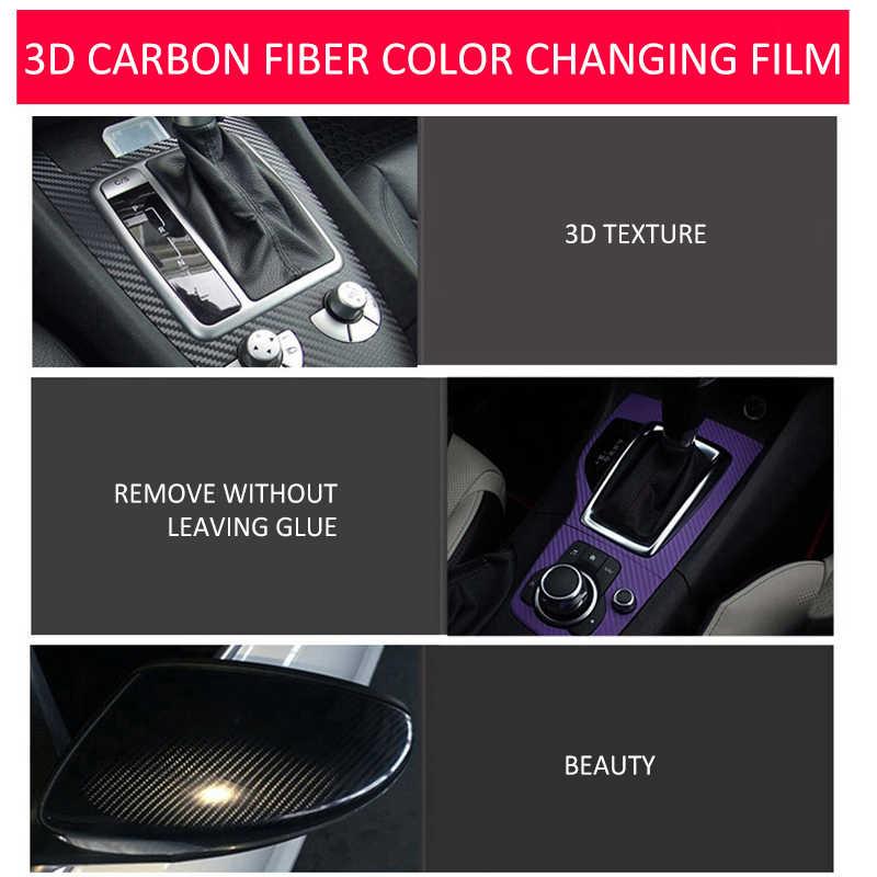 Terbaru Vinyl Serat Karbon Film Mobil Stiker Tahan Air Mobil Styling Wrap untuk Auto Kendaraan Detail Stiker Pelindung Film
