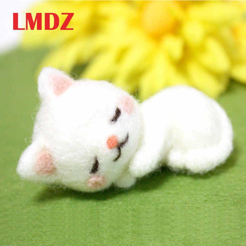 LMDZ 1 قطعة غير الانتهاء التلبيد بوكيد شحن مجاني محبوب جدا القط الحرفية الصوف ورأى مجموعة بوكيد لتقوم بها بنفسك شعر لحقيبة إبرة المواد