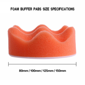 Image 5 - Kit de tampons de polissage pour polisseuse automobile, 8 pièces, filetage 3/4/5/6 pouces, pour outils électriques M10 M16