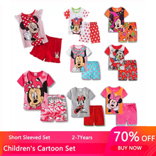 Girls Sleepwear Short Princess Pajamas Baby Minnie Kids Boys Cartoon Children's Summer