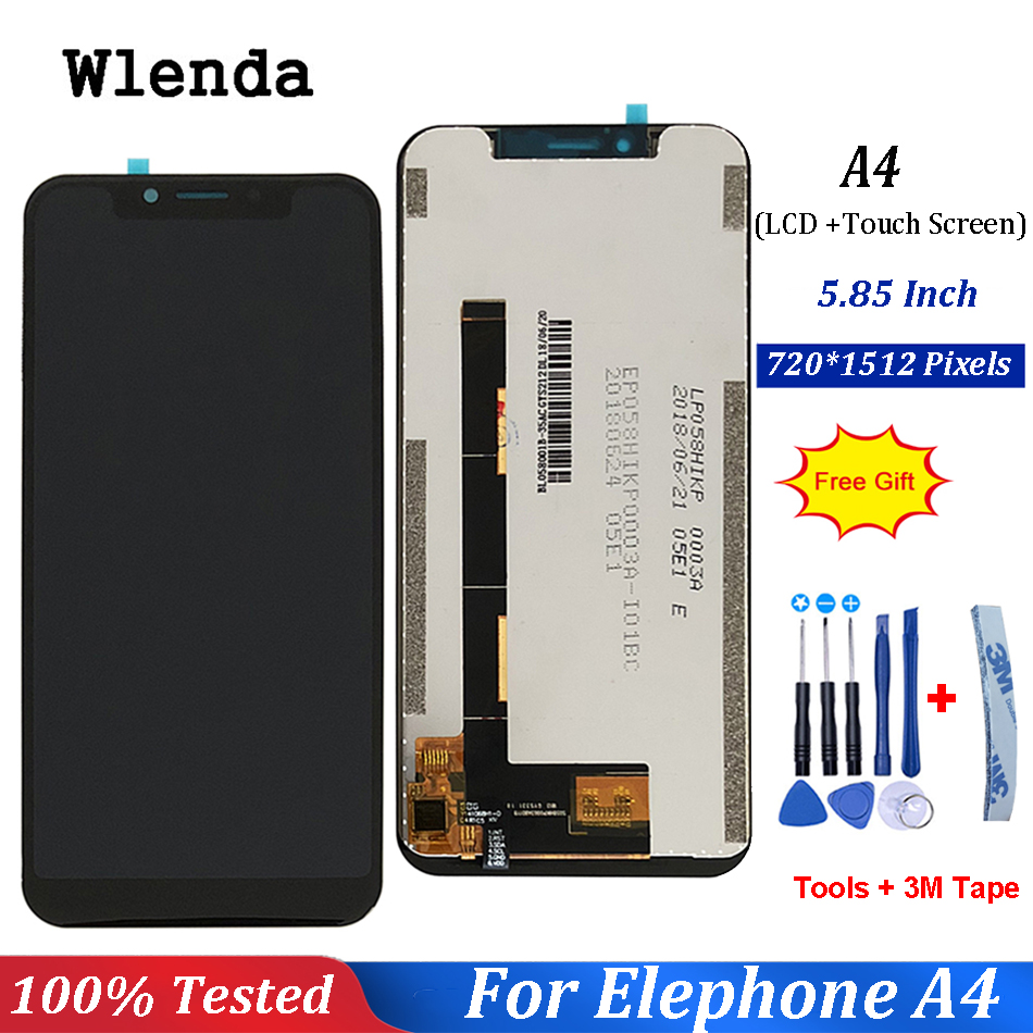 For Elephone A4 Pro LCD Display and Touch Screen 5.85 Inch Mobile Phone Accessories For Elephone A4 Pro LCD +Tools +Adhesive