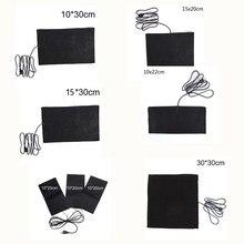 Водонепроницаемый USB заряженный теплый паста прокладки карбон волокно обогрев прокладка сейф портативный обогреватель обогреватель прокладка для жилет куртка ткань расходные материалы