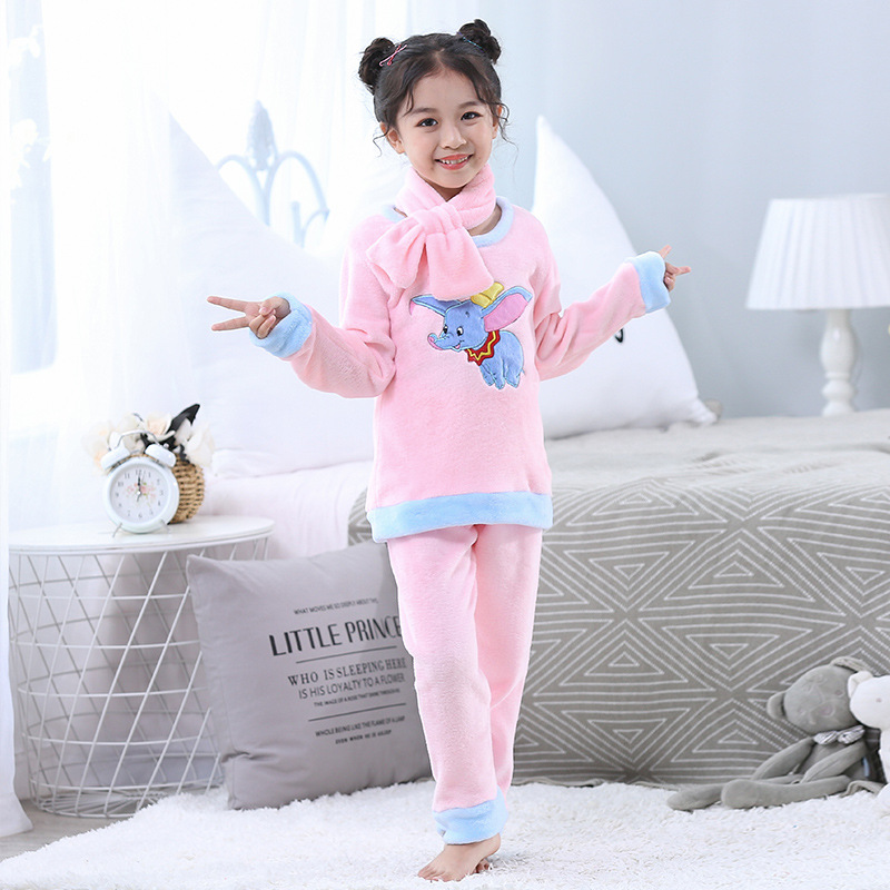 [Snow Dan] 6 A Style ON CHILDREN'S Pajamas Autumn & Winter BOY'S Thick Coral Velvet Plus Velvet Flannel Home