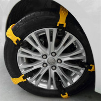 10pcs Widened tire snow chains for automobile snow general purpose beef tendon thickened snow chains