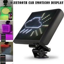 Car Bluetooth Controlled Smiley Emoji Led Display Sign Screen LED Full Color 12V Animation