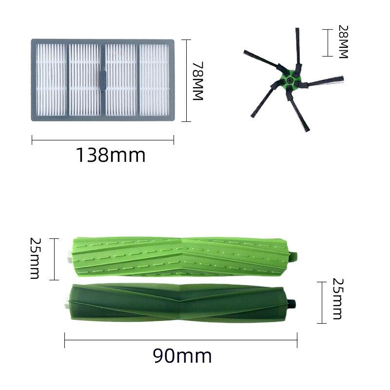 Sac à poussière, brosse latérale principale, filtre Hepa pour Robot aspirateur iRobot Roomba S9 9150 / S9 + Plus, 9550