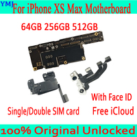 Full Tested Unlocked For iPhone XS Max Motherboard With Face ID Mainboard For iPhone XS Max Logic Board 64GB 256GB 512GB