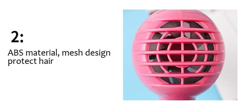 Mini 450 w secador de cabelo projetado