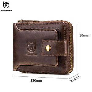Image 5 - BULLCAPTAIN Brand mens Wallet Genuine Leather Purse Male Rfid Wallet Multifunction Storage Bag Coin Purse Wallets Card Bags