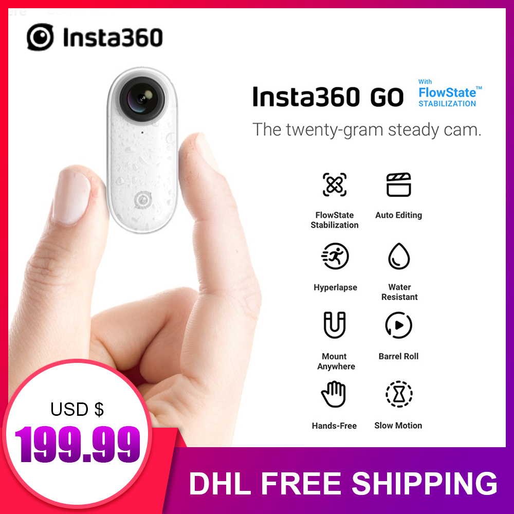 Insta360 GO New Action Camera AI Auto Editing Hands-free Insta 360 Go Smallest Stabilized Camera APP Control For iPhone &Android image