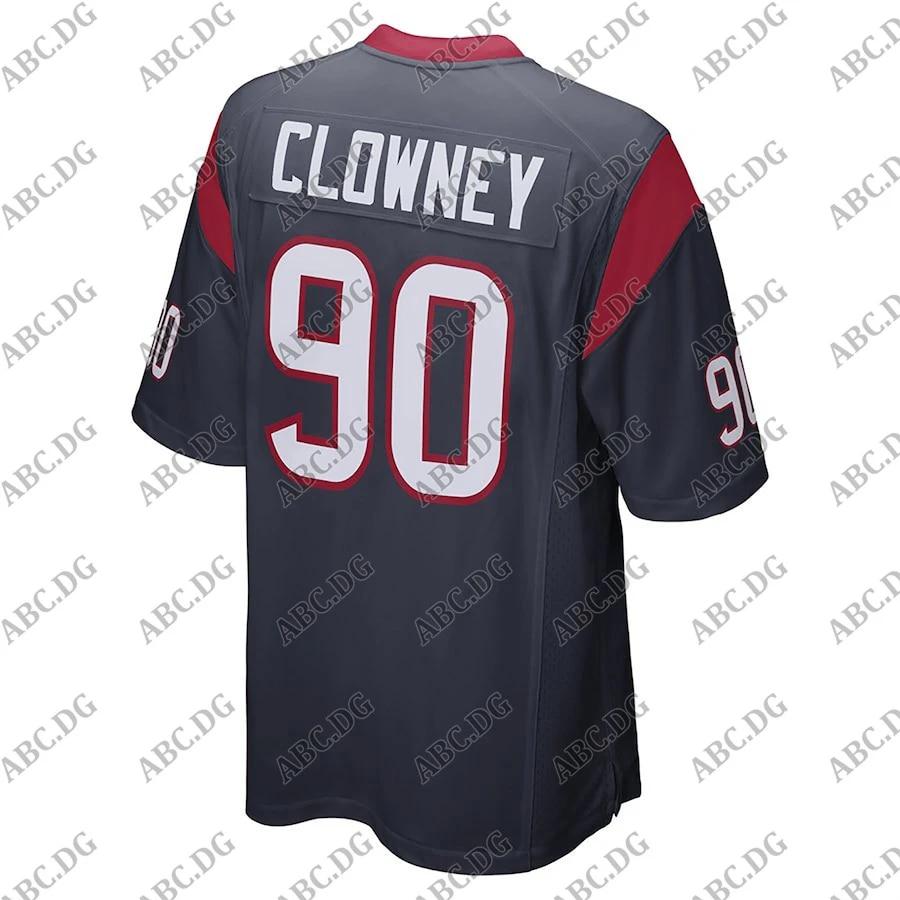 Customized Stitch American Football Jersey Men Women Kid Youth Jadeveon Clowney Houston Game Jersey - Navy