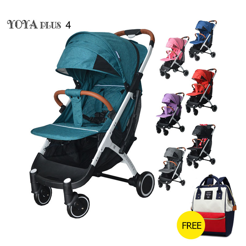 Yoya Plus 4 Baby Stoller Lightweight Stroller  Yoya Plus Series Cart Portable Baby  Trolley  2 In 1  Baby Car 11pcs Free Gifts