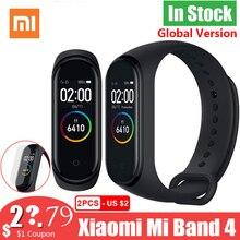 Neue Globale Version Xiao mi mi Band 4 Band4 Smart mi band 3 Farbe Bildschirm Armband Herz Rate Fitness Musik 50M Wasserdichte Bluetooth
